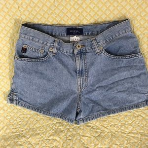 Vintage Guess Jeans Shorts Light Wash Size 28